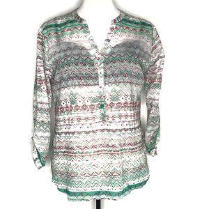 Grand and Greene Boho Henley Shirt Top A110288
